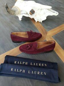 Ralph Lauren Purple Label Men's Italian Tassel Chessington Suede Loafer Size 8