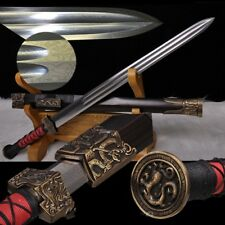 Sword Broadsword waist knife Hand Forged Folded pattern steel blade sharp #2326