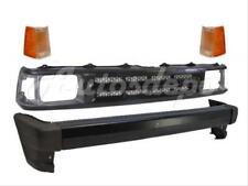 For 90-93 MAZDA PICKUP 2WD FRONT BUMPER BAR BLK END GRILLE CORNER LAMP W/O MOLD