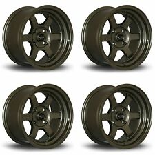 4 x Rota Grid-V Bronze Alloy Wheels 15x8"