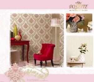 Vintage textured flowers wallpaper 10m Roll