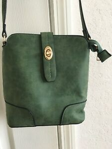 Mini Crossbody Bag,green Suede/pre-owned