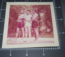 1950's Shirtless Men Affectionate Man Wet Swimsuit Vintage Gay Snapshot PHOTO