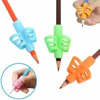1/5/10PC Two-finger Grip Silicone Kid Baby Pen Pencil Holder Help Writing Tool