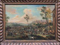 17th Century Dutch Flemish Cattle Market Livestock Landscape Karel BREYDEL