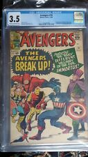 Avengers #10, Marvel Comics, 11/64, CGC Graded 3.5