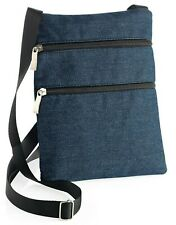 Ladies Over Shoulder Handbag. Denim / Red Small Messenger Women Cross Body Bag