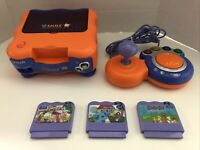 VTech V.Smile TV Learning System Console Bundle With Controller + 3 Games (clean