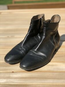 Officine Creative Side Zip Boots, Black, Size 11