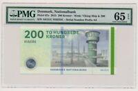 DENMARK banknote 200 Kroner 2015 Callesen sign. PMG grade MS-65 EPQ Gem UNC