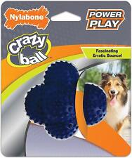 NYLABONE POWER PLAY BALL CRAZY BOUNCE ERRATIC ROLL SHAPE DOG TOY 20-35 LB
