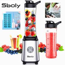 Sboly Personal Blender Juicer Smoothie Juice Shakes Mixer 2 Portable Bottle 300w