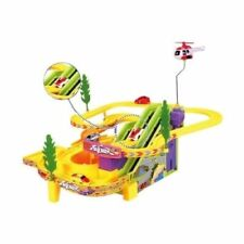 Racing Car Track Racer Kids Toy Game Jolly Penguin Slide Battery Operated 4 Cars