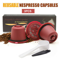 i Cafilas 3 Reusable Nespresso Coffee Capsules Refillable Pods For Original Line