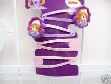 Hair clip set  Sofia pink & purple  - Costume Jewellery Hair clips
