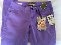 NEW $44 Hot Kiss Skinny Lily Purple Denim Jeans Size 3