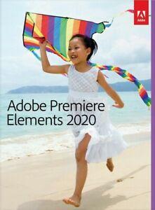 Adobe Premiere Elements 2020 1 PC | or Mac Full Version Download 1 user UK EU