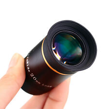 """1.25"""" 20mm Eyepiece 66° Ultra Wide Angle Optical Glass Lenses for Telescope Best"""