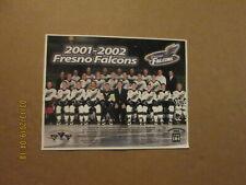Wchl Fresno Falcons Vintage Circa 2001-2002 Logo Hockey Team Photo