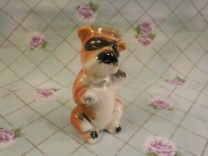 """Ceramic Miniature  Doll House """"Little Bandit"""" Dog - Pre-owned"""
