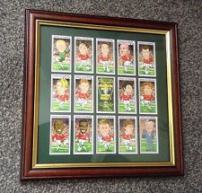 MANCHESTER UNITED 1999 CHAMPIONS LEAGUE WINNERS FRAMED CARD SET FREE POSTAGE