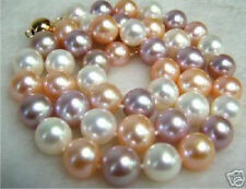 "8mm multicolor south sea shell pearl necklace 18"" AAA"