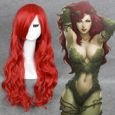 Batman Poison Ivy Cosplay Wig Long Wavy Red Sexy Girl Synthetic Hair