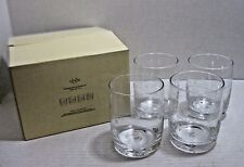 Lenox  DOR Assorted Graphics Crystal Drink Ware, Set of 4 Etched Waves and Dots