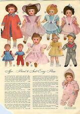 1955 PAPER AD 4 PG Baby Trix Doll Dolls Babee Bee Waking Cindy Strutter Boy