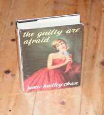 THE GUILTY ARE AFRAID James Hadley Chase First Edition 1957 Dustwrapper U207