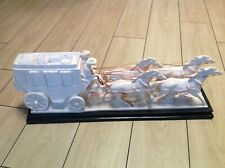"""Vintage Rare Signed A.   Santini Wells Fargo Coach With 4 Horses  24"""" Long"""