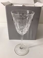"""Set 4 Christopher Stuart Italy Cameo Crystal Water Goblets, 7 3/4"""" T x 3 1/4"""" D"""