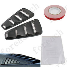 2 X 1/4 Quarter Side Window Louvers Scoop Cover Vent For 2005-2014 Ford Mustang
