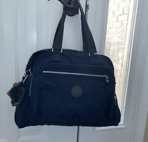 Kipling Alanna Diaper Baby Bag Briefcase Tote Travel True Blue Navy TM-5266
