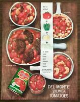 1961 Del Monte Stewed Tomatoes Print Ad We Added Pepper Onion Celery
