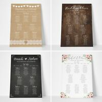 Personalised Wedding Seating Plan Planner Table Plans #067