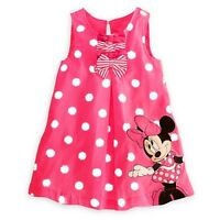 NEW Girls Dress Minnie Mouse Pink polka dot, Party Dress Fancy Dress Summer