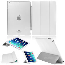 WHITE Flip Smart Cover + Back Matte Case For Apple iPad Air iPad 5