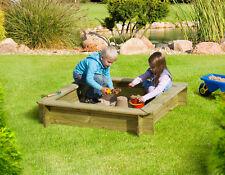 Sandkasten Max 120x120x25cm Holz Spielkasten Kinder