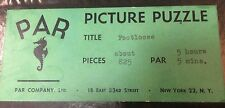 "PAR Puzzle Jigsaw Wood 840 PCS 32 FIG ""Footloose"" Far East BOAC Galsworthy"