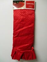 """Country Living 52"""" """"Homespun Holiday""""  Plush Red Dot Christmas Tree Skirt NIP!"""