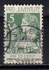 SVIZZERA SWISS SCHWEIZ 1913 Pro Juventute USATO (FG)