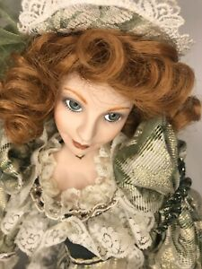 Porcelain Doll Franklin Heirloom - Musical Collection 50cm Red hair Green Eyes