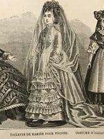 MODE ILLUSTREE SEWING PATTERN  Dec 6,1874 - DOLL Clothing patterns