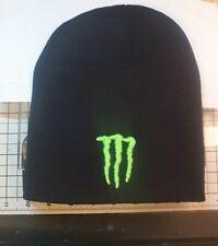 Monster Energy Drink Beanie Knitted Black Embroidered Logo