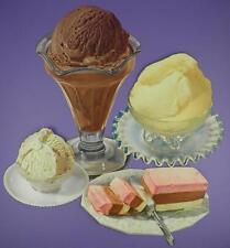 Original 1950s American Diner Paper Die Cut Signs - Ice Cream Desserts - Lot C