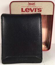 Mens Levis Card Holder Wallet Black NWT