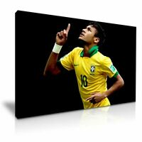 FOOTBALL NEYMAR PICTURE PRINT CANVAS WALL ART VARIOUS SIZES