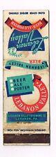 1940s Lebanon Valley Pennsylvania Beer Ale Porter Matchcover