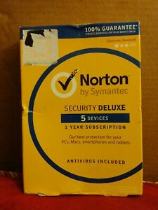 Norton by Symantec Security Deluxe - 5 Devices 1 Year *Genuine** key